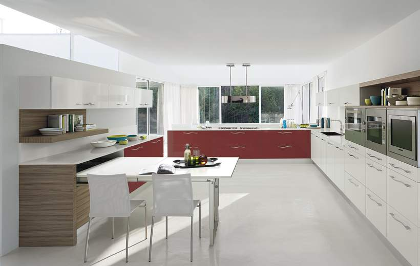 Cucina Moderna Febal. Cucina Moderna In Laminato A U Marina By ...