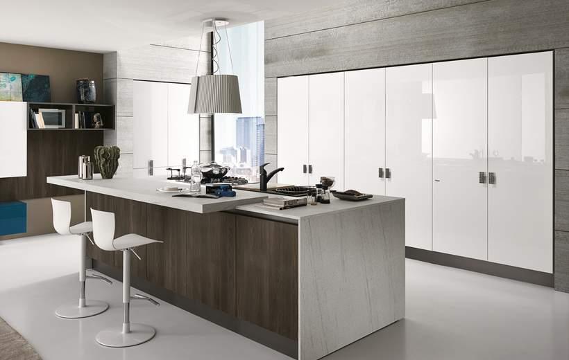 Cucina moderna febal mod sand sala arredamenti lecco for Cucine bellissime moderne