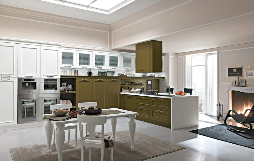 Cucine classiche febal modello romantica sala arredamenti lecco - Cucine classiche febal ...