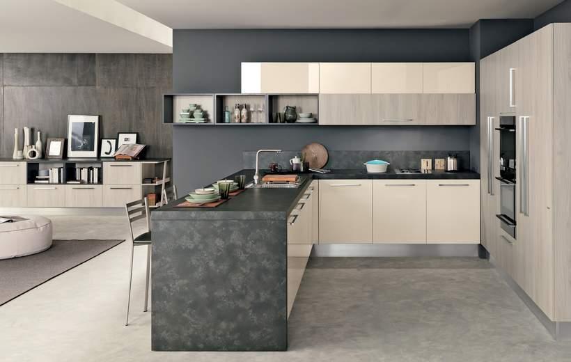 promozione cucina ice febal   sala arredamenti lecco - Mobili Soggiorno Febal
