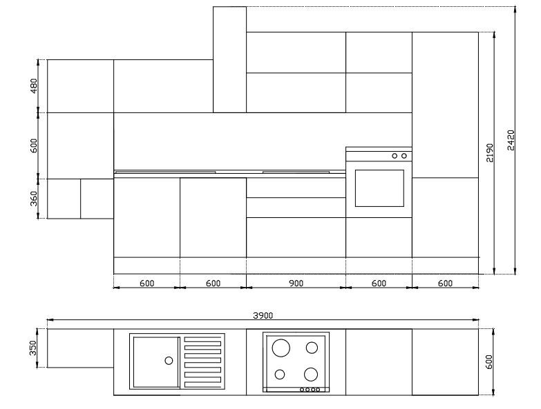 Saldo cucina lineare lube immagina sala arredamenti lecco - Dimensioni standard mobili cucina ...